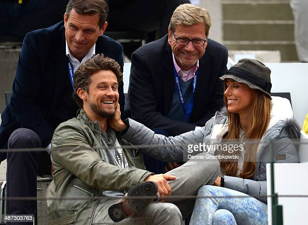 Michael Mronz Wayne Carpendale Guido Westerwelle and Annemarie Carpendale watch the match between Philipp Kohlschreiber of Germany and Denis Istomin...