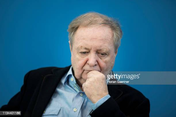 Michael Mueller Chairman of NaturFreunde Deutschlands eV is pictured during a press conference on April 02 2019 in Berlin Germany