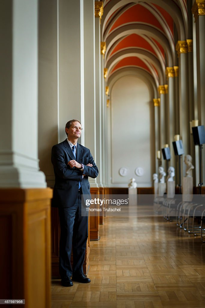 Michael Mueller, designated Mayor of Berlin, poses during a portrait session at Rotes Rathaus on October 21, 2014 in Berlin, Germany.