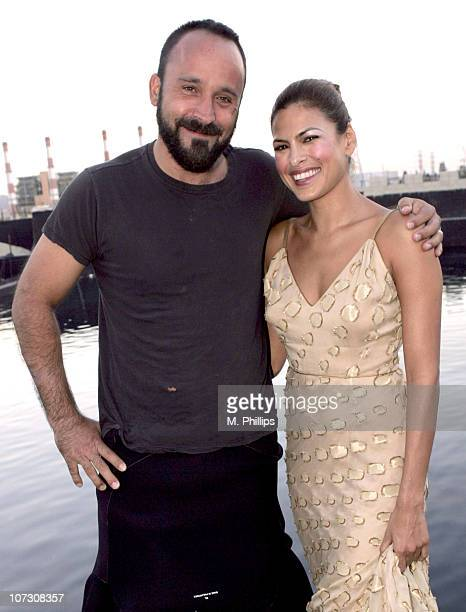 Michael Muller and Eva Mendes during The Art of Elysium and Esquire House Invitation Shoot with Michael Muller and Eva Mendes at Fantasy II Film...