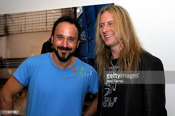 Michael Muller and Jerry Cantrell during Michael Muller's Photographs Featured at Opening of LoFi Gallery at LoFi Gallery in Los Angeles California...