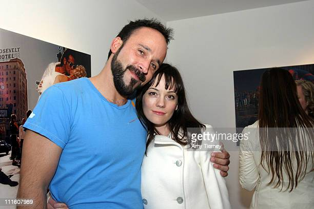 Michael Muller and Natasha Gregson Wagner during Michael Muller's Photographs Featured at Opening of LoFi Gallery at LoFi Gallery in Los Angeles...