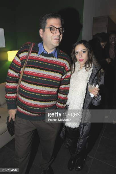 Michael Musto and Aesha Waks attend 8TH ANNUAL BoCONCEPT/KOLDESIGN HOLIDAY PARTY at BoConcept on December 14 2010 in New York City