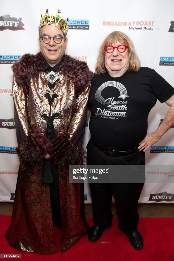 Michael Musto and Bruce Vilanch attend Broadway Roasts Michael Musto at Actors Temple Theatre on May 22, 2017 in New York City.