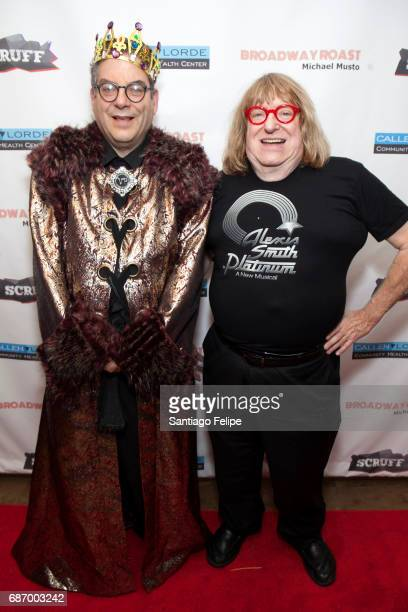Michael Musto and Bruce Vilanch attend Broadway Roasts Michael Musto at Actors Temple Theatre on May 22 2017 in New York City