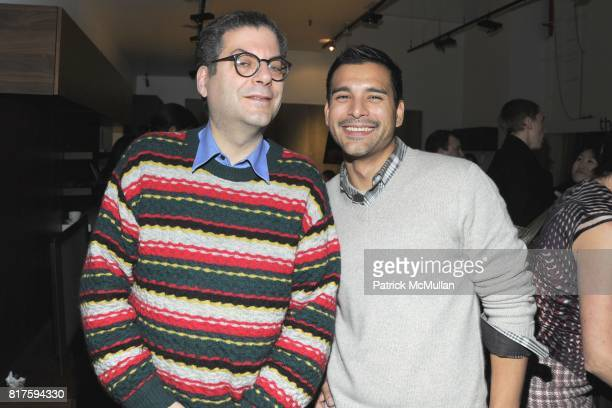 Michael Musto and Luis Sarmiento attend 8TH ANNUAL BoCONCEPT/KOLDESIGN HOLIDAY PARTY at BoConcept on December 14 2010 in New York City