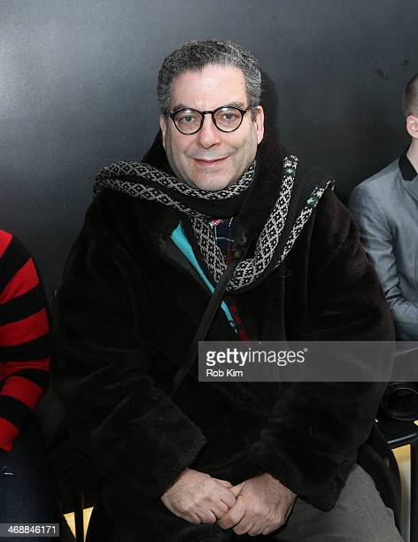 Michael Musto attends the Geoffrey Mac For Sharon Needles Show during MercedesBenz Fashion Week Fall 2014 at The Out NYC on February 11 2014 in New...