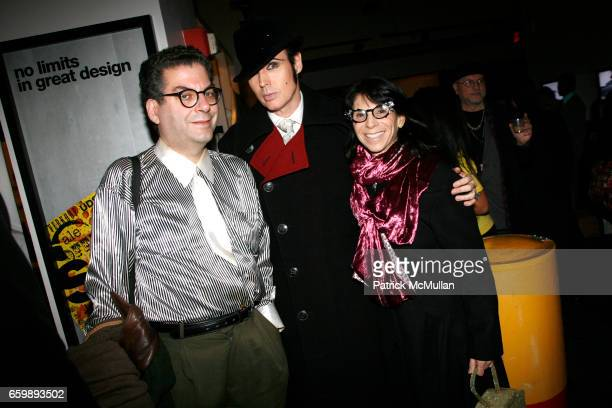 Michael Musto Patrick McDonald and Robin Joy attend 7th Annual BoCONCEPT/KOLDESIGN Holiday Party at Bo Concept Madison Ave on December 15 2009 in New...