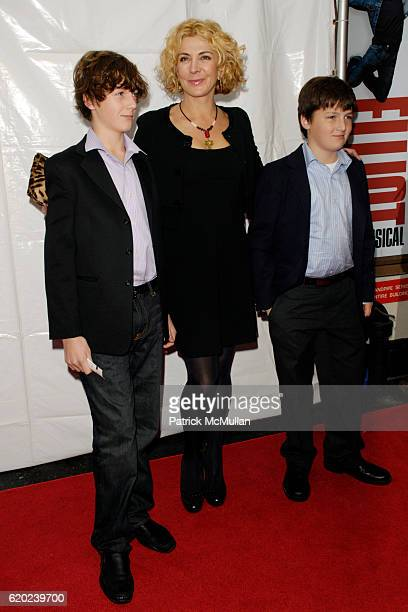 Michael Neeson Natasha Richardson and Daniel Neeson attend BILLY ELLIOT the MUSICAL Opening Night on Broadway at Imperial Theatre on November 13 2008...