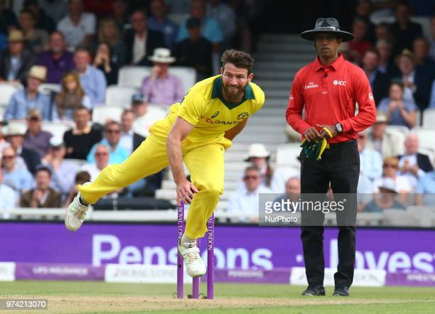 Michael Neser of Australia during One Day International Series match between England and Australia at Kia Oval Ground London England on 13 June 2018