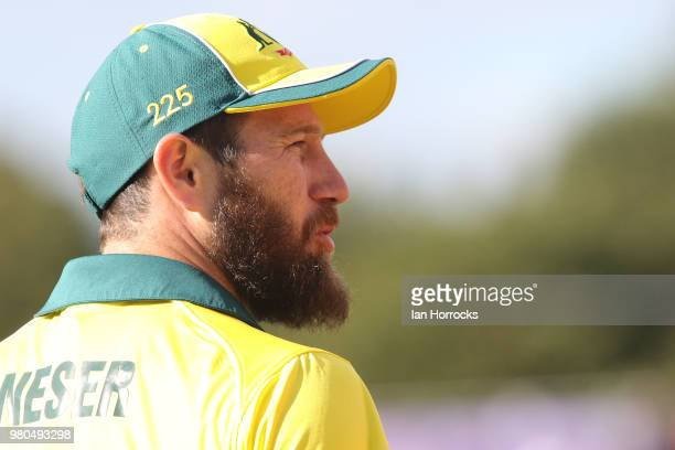 Michael Neser of Australia during the 4th Royal London ODI at Emirates Durham ICG on June 21 2018 in ChesterleStreet England