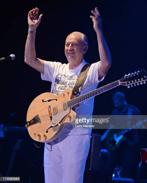 Michael Nesmith of The Monkees performs at Mizner Park Amphitheatre on July 27 2013 in Boca Raton Florida