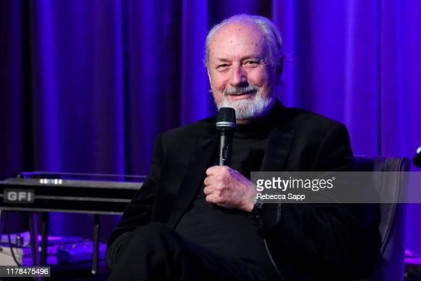 Michael Nesmith speaks onstage at An Evening With Michael Nesmith at the GRAMMY Museum on October 01 2019 in Los Angeles California