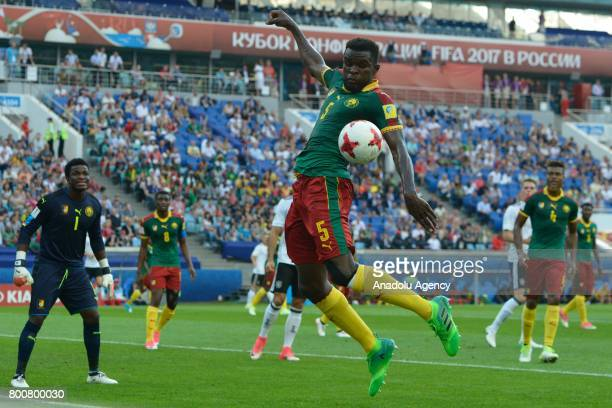 Michael Ngadeu Ngadjui of Cameroon in action during the FIFA Confederations Cup 2017 soccer match between Cameroon and Germany in Sochi Russia on...
