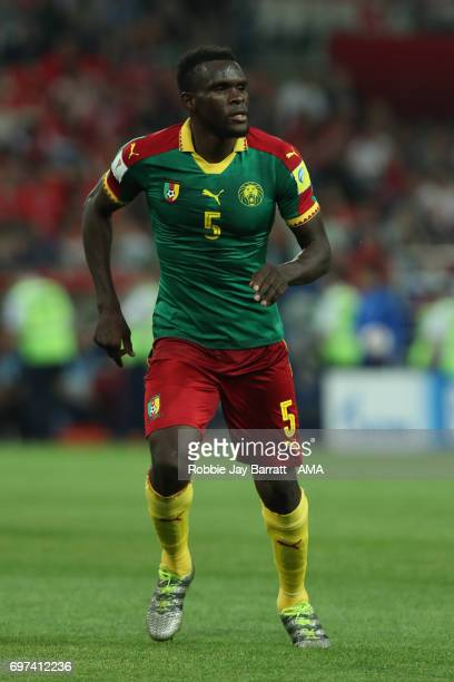 Michael NgadeuNgadjui of Cameroon in action during the FIFA Confederations Cup Russia 2017 Group B match between Cameroon and Chile at Spartak...