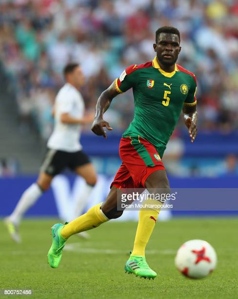 Michael NgadeuNgadjui of Cameroon in action during the FIFA Confederations Cup Russia 2017 Group B match between Germany and Cameroon at Fisht...