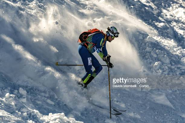 Michael Nocker in action during Italian Team Ski Mountaineering Championships on February 14, 2021 in ALBOSAGGIA, Italy.