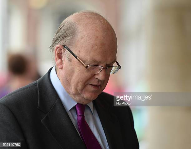 Michael Noonan, Irish Finance Minister, arrives at the North South Ministerial Council held this Friday, 4 July 2014, in Dublin Castle.Dublin,...