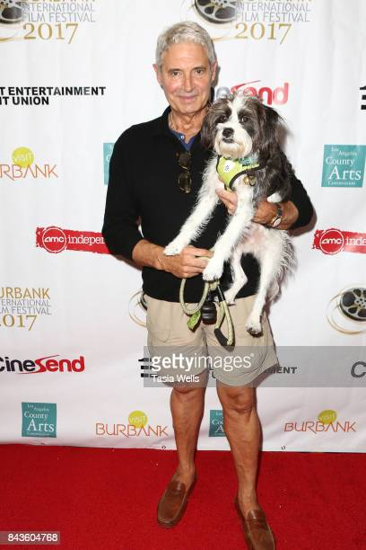 Michael Nouri with dog Charlie Nouri at the opening night of the 9th Annual Burbank International Film Festival The List at AMC Burbank 16 on...