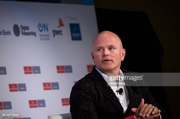 Michael Novogratz former president of Fortress Investment Group LLC speaks during The Economist's Finance Disrupted conference in New York US on...