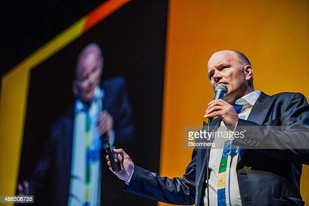 Michael Novogratz principal at Fortress Investment Group LLC speaks during the 19th Annual Sohn Investment Conference in New York US on Monday May 5...