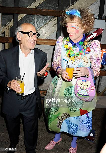 Michael Nyman and Grayson Perry attend the Contemporary Art Society Auction Gala at the Farmiloe Building on February 29 2012 in London England