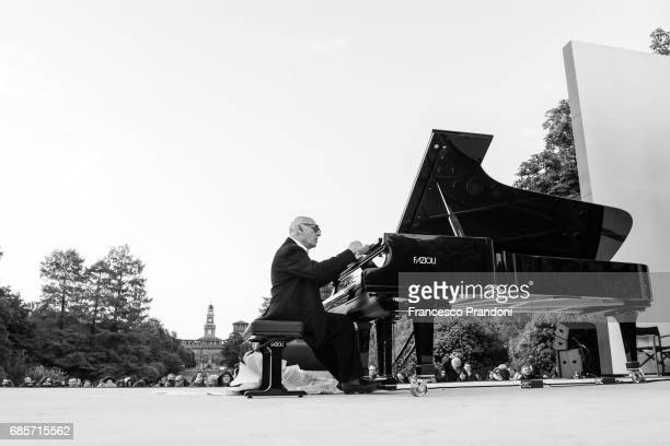 Ê Michael Nyman Performs At Piano City at Parco Sempione on May 20 2017 in Milan Italy