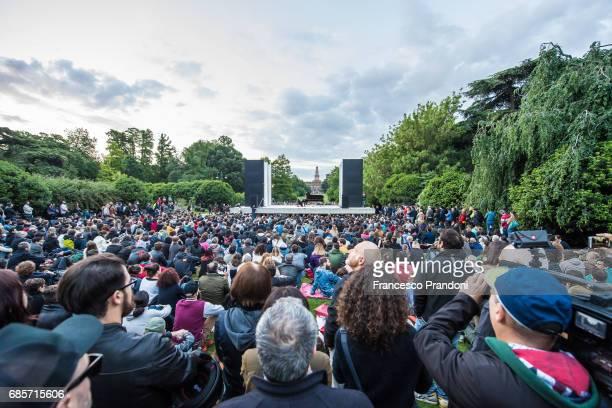 Michael Nyman Performs At Piano City at Parco Sempione on May 20 2017 in Milan Italy