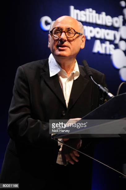 Michael Nyman speaks at the Institute of Contemporary Arts Annual Fundraising Gala Figures of Speech on February 27 2008 in London England