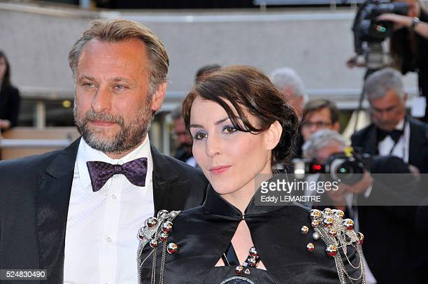 Michael Nyqvist and Noomi Rapace attend the premiere of 'Un Prophete' during 62nd Cannes Film Festival