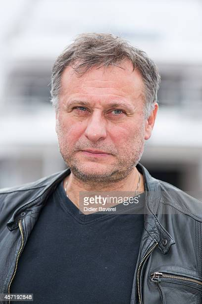 Michael Nyqvist poses during the photocall of '100 Code' at Mipcom 2014 on October 13 2014 in Cannes France