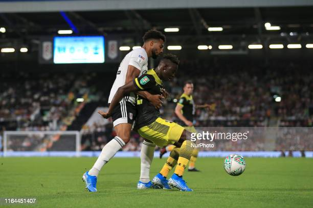 Michael Obafemi during the Carabao Cup match between Fulham and Southampton at Craven Cottage London on Tuesday 27th August 2019