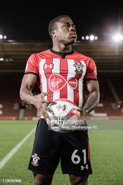 Michael Obafemi feature photoshoot pictured at St Marys Stadium on January 8 2019 in Southampton England