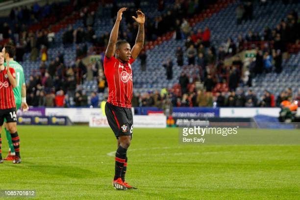 Michael Obafemi of Southampton celebrates the teams win after the Premier League match between Huddersfield Town and Southampton FC at John Smith's...