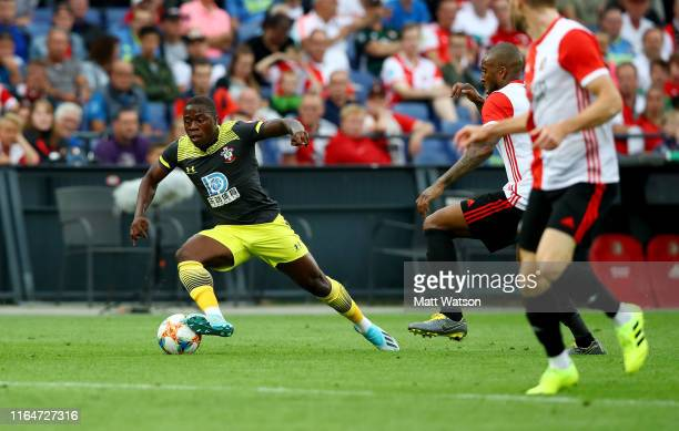 Michael Obafemi of Southampton during the pre season friendly match between Feyenoord and Southampton FC at De Kuip on July 28 2019 in Rotterdam...