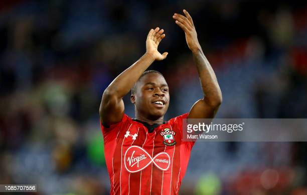 Michael Obafemi of Southampton during the Premier League match between Huddersfield Town and Southampton FC at John Smith's Stadium on December 22...