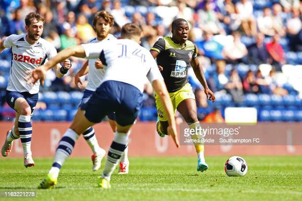 Michael Obafemi of Southampton during the preseason friendly game between Preston North End and Southampton FC pictured at Deepdale on July 20 2019...