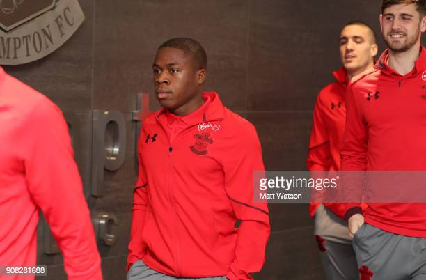 Michael Obafemi of Southampton FC ahead of the Premier League match between Southampton and Tottenham Hotspur at St Mary's Stadium on January 21 2018...