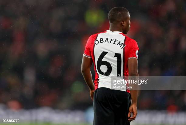 Michael Obafemi of Southampton FC during the Premier League match between Southampton and Tottenham Hotspur at St Mary's Stadium on January 21 2018...