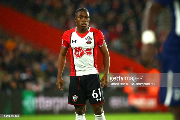Michael Obafemi of Southampton FC during the Premier League match between Southampton and Tottenham Hotspur at St Mary's Stadium on January 20 2018...