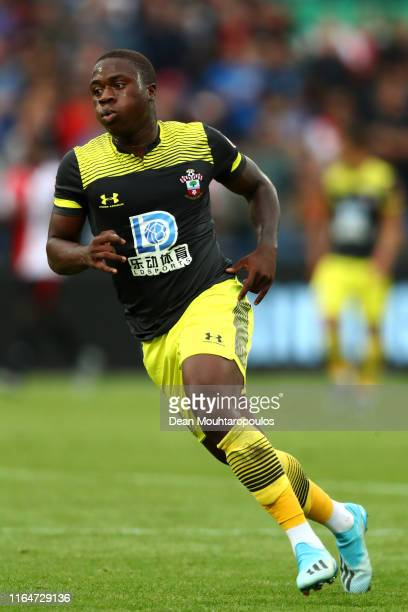 Michael Obafemi of Southampton in action during the pre season friendly match between Feyenoord Rotterdam and Southampton Football Club at Stadion...