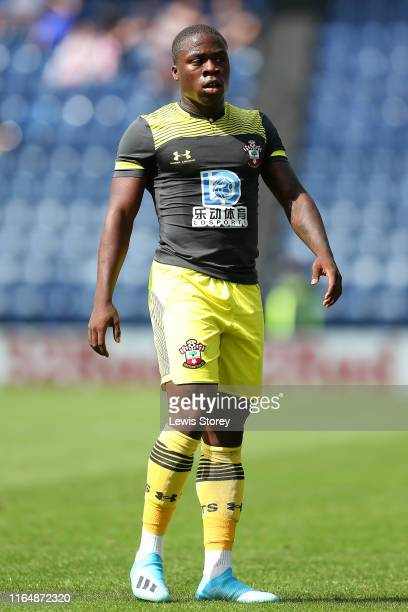 Michael Obafemi of Southampton in action during the PreSeason Friendly match between Preston North End and Southampton at Deepdale on July 20 2019 in...