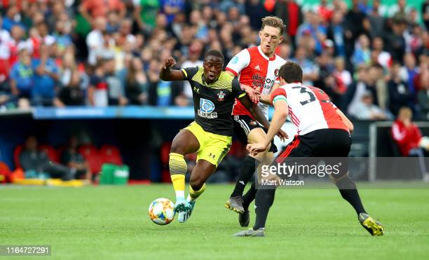 Michael Obafemi of Southampton on the ball during the pre season friendly match between Feyenoord and Southampton FC at De Kuip on July 28 2019 in...