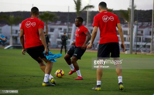 Michael Obafemi on day 1 of the Southampton FC Tenerife training camp on February 11 2019 in Tenerife Spain