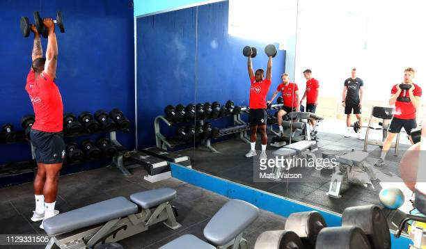 Michael Obafemi on day 2 of Southampton FC's winter training Camp on February 12 2019 in Tenerife Spain