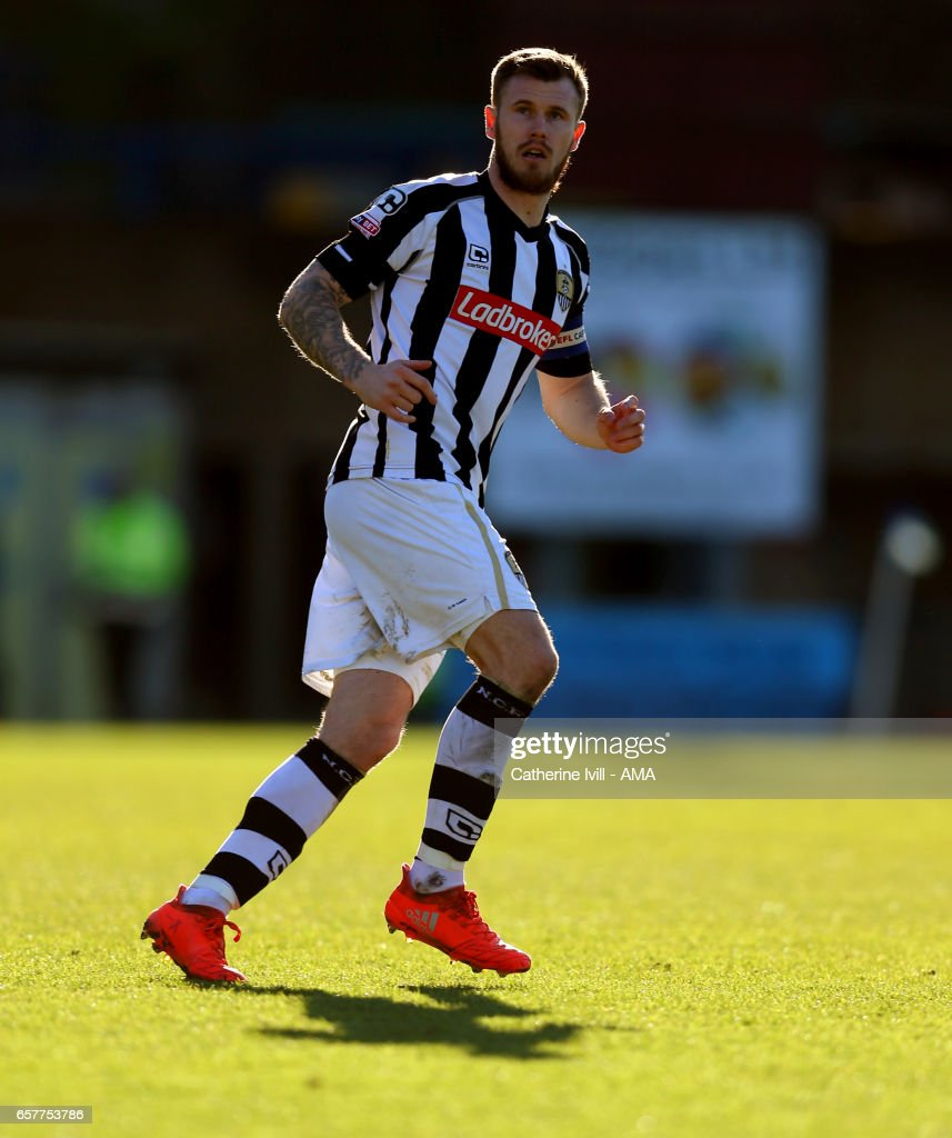 Michael OÕConnor of Notts County during the Sky Bet League Two match between Wycombe Wanderers and Notts County at Adams Park on March 25, 2017 in High Wycombe, England.