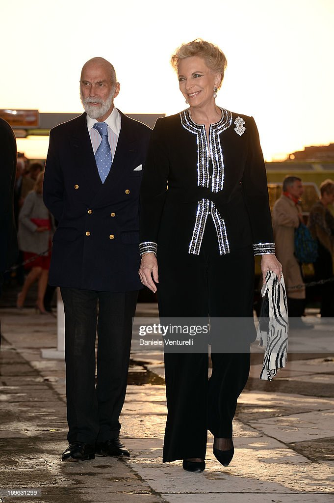 Michael Of Kent and Marie-Christine of Kent attend the Dinner At 'Fondazione Cini, Isola Di San Giorgio' during the 2013 Venice Biennale on May 29, 2013 in Venice, Italy.