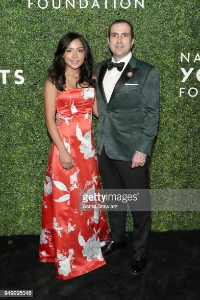 Michael Ohev Zion and Sandra Guerrero attend National YoungArts Foundation New York Gala at The Metropolitan Museum of Art on April 18 2018 in New...