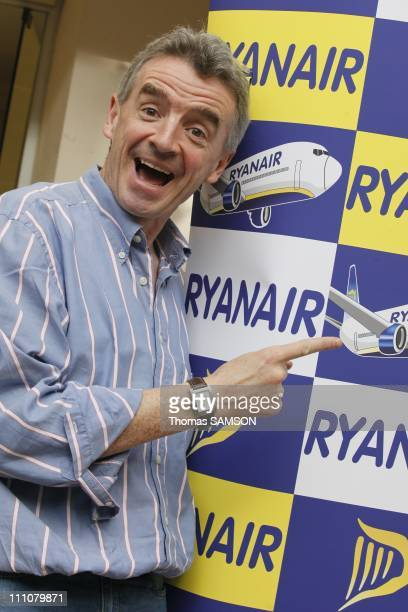 Michael O'Leary CEO of Ryanair in Paris France on March 30th 2010