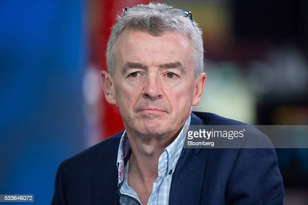 Michael O'Leary chief executive officer of Ryanair Holdings Plc pauses during a Bloomberg Television interview in London UK on Monday May 23 2016...